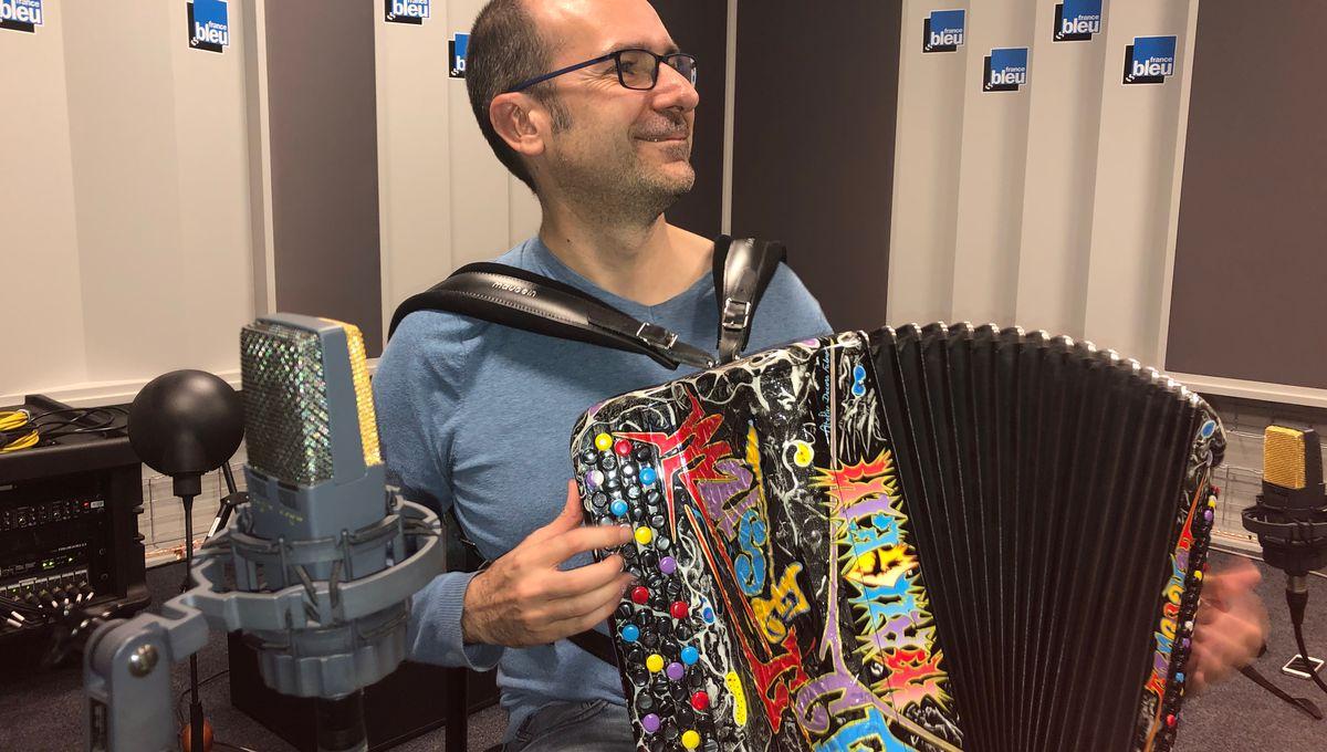 Sébastien Farge, ambassadeur des accordéons Maugein